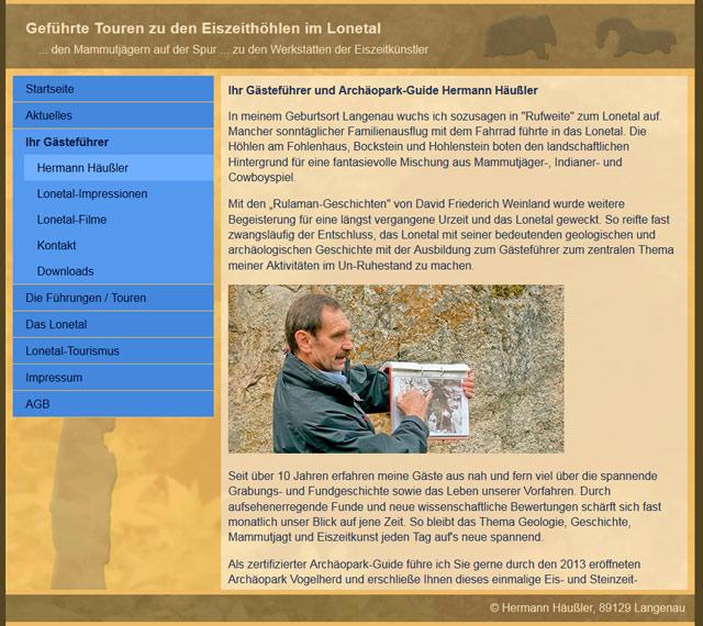 website Ansicht